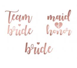"""Татуировки """"Team bride"""", цвета розового золота"""