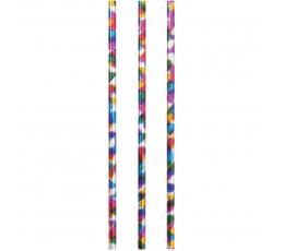 Трубочки, разноцветные -блестящие (24 шт)
