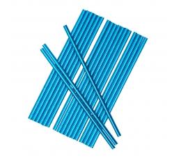 Трубочки, синие блестящие (25 шт)