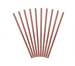Трубочки, цвета розового золота (10 шт)