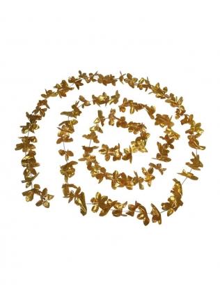 Цветочная гирлянда, фольга золото (3,6 м)