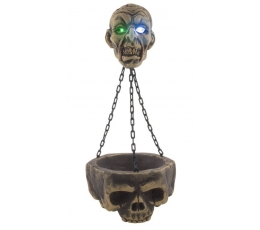 """Украшение """"Сияющий череп"""" (1 шт. / 85 см.)"""