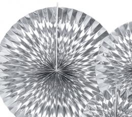 Вееры, серебряные блестящие (3 шт) 1
