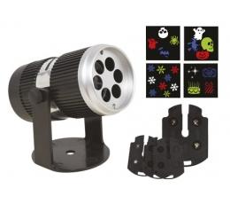 Внутренний светодиодный проектор (с 4 дизайнерскими фильтрами)