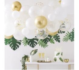 """Воздушный шар гирлянда - арка """"Сделай сам"""", бело-золотой"""