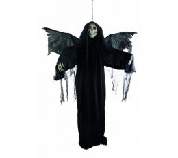 """Interaktīva pakarināmā dekorācija """"Galvaskauss"""", melna (2 m)"""