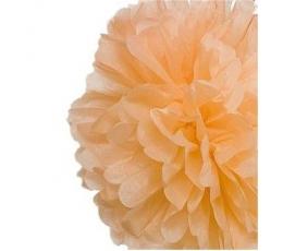 Papīra bumba, persiku krāsā (2 gab./19 cm)