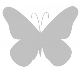Tauriņi, pelēkā krāsā (20 gab./ S)