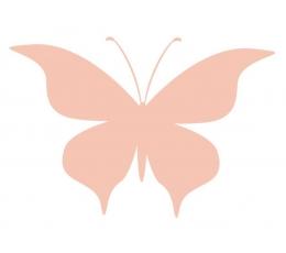 Tauriņi, persiku krāsā (20 gab./ L)