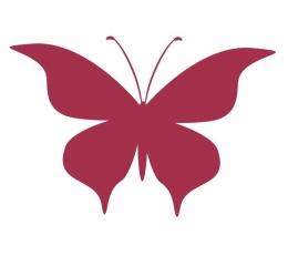 Tauriņi, perlamutra bordo krāsā (20 gab./ L)