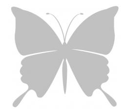 Tauriņi, pelēkā krāsā (20 gab./ L)