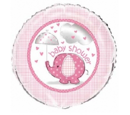 "Folija balons ""Baby shower / girl"" (1 gab./18 * 45 cm)"