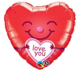 "Folija balons - sirds ""I love you"" (46 cm)"