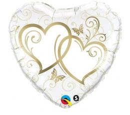 Folijas balons ar zelta sirsniņām (46 cm)