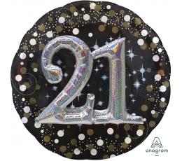 """Folija balons, 3D """"21"""" (81 cm)"""