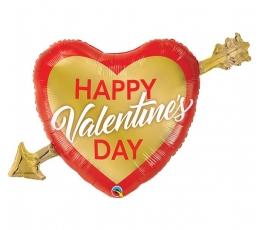 """Folija balons """"Happy Valentine's day"""" (39 x 91cm)"""
