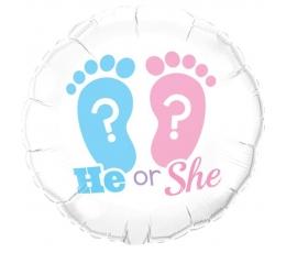 "Folija balons ""He or She"" (46 cm)"