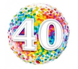 """Folija balons """"40"""" (46 cm)"""