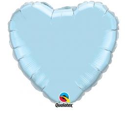 """Folija balons """"Zilā sirds"""" (91 cm)"""