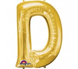 """Folija balons - burts """"D"""" (83 cm)"""