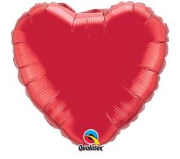 """Folija balons """"Sarkana sirds"""" (46 cm)"""