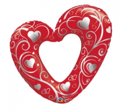 """Folija balons """"Sarkana sirds"""" (107 cm)"""