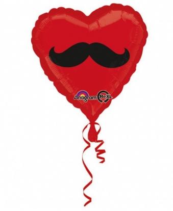 """Folija balons - sirds """"Ūsas""""  (43 cm)"""