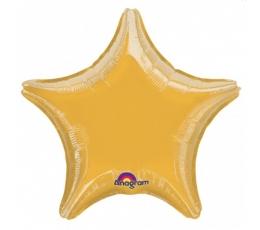 "Folija baloni ""Zvaigzne""/zelta (10 gab./ 13  cm)"