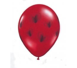 Baloni ar melnām sirsniņām (1 gab. / 28 cm Q11)