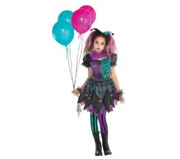 Harley Quinn kostīms, rozā-tirkīza (12-14 gadi)