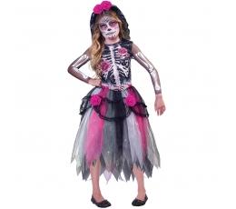 """Kostīms """"Mirušo diena"""" , rozā (8-10 gadi)"""