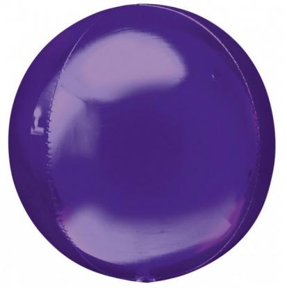 Folija balons-orbz, violets (38 cm x 40 cm)
