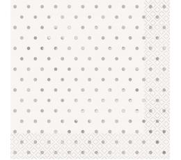 "Salvetes ""Sudraba punkti"" (16 gab./33 x 33 cm)"