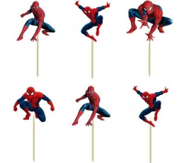 """Irbulīši-dekorācijas """"Zirnekļcelvēks"""" (8 gab./9 cm.)"""