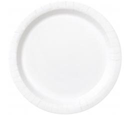 Šķīvīši, balti (8 gab./18 cm)