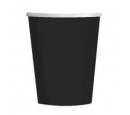 Glāzītes, melnas (8 gab/266 ml)