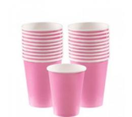 Glāzītes, rozā (8 gab. 266 ml)