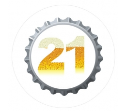 """Žetons. Alus cienītājiem """"21"""" (7,7 cm.)"""