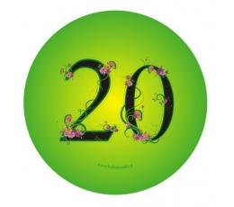 "Žetons. Ziedi ""20"" (7,7 cm.)"