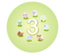 """Žetons. Mājdzīvnieki """"3"""" (5,5 cm.)"""