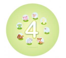 """Žetons. Mājdzīvnieki """"4"""" (5,5 cm.)"""