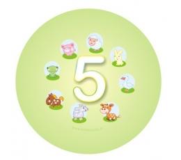 """Žetons. Mājdzīvnieki """"5"""" (5,5 cm.)"""