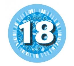 """Žetons  """"Zili baloni -18"""" (7,7cm)"""