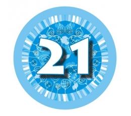 """Žetons  """"Zili baloni -21"""" (7,7cm)"""