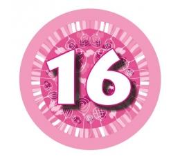 """Žetons  """"Rozā baloni -16"""" (7,7cm)"""