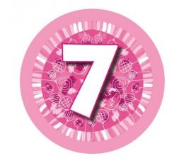 """Žetons  """"Rozā baloni -7"""" (7,7cm)"""