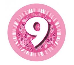 """Žetons  """"Rozā baloni -9"""" (7,7cm)"""