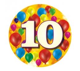 """Žetons """"Krāsaini baloni-10"""" (7,7 cm.)"""