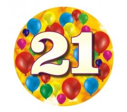 """Žetons """"Krāsaini baloni-21"""" (7,7 cm.)"""