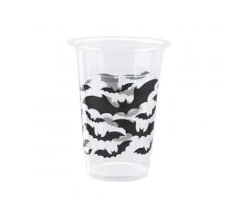 """Пластмассовые стаканчики """"Черные летучие мыши"""" (8 шт/ 350 мл)"""